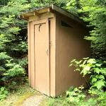 Private outhouse for lakeside campsite.